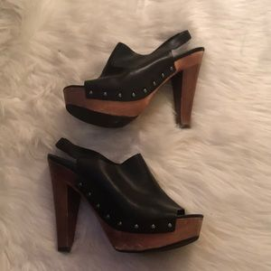 Via Spiga good condition - peep toe heels wooden